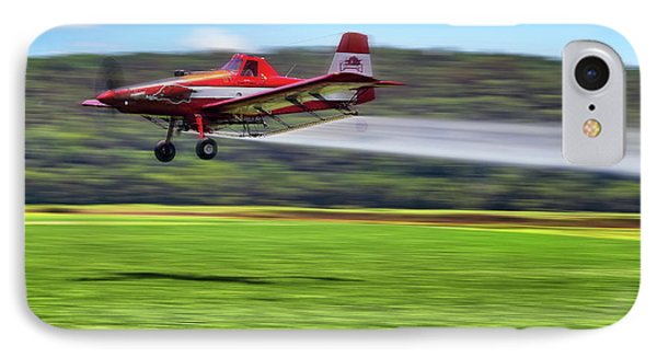 IPhone Case featuring the photograph Picking It Up And Putting It Down - Crop Duster - Arkansas Razorbacks by Jason Politte