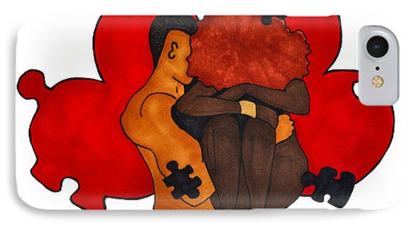 Picking Up The Pieces Phone Case by Diamin Nicole