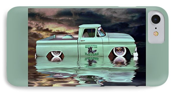 IPhone Case featuring the photograph Pickup Reflections by Steven Agius