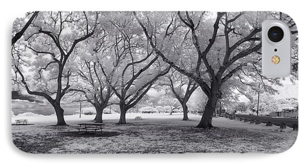 Picnic Bench Dream IPhone Case by Sean Davey