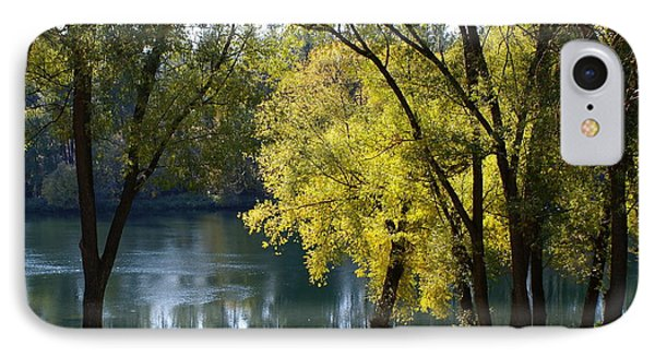 IPhone Case featuring the photograph Picnic Spot On Spokane River by Ben Upham III