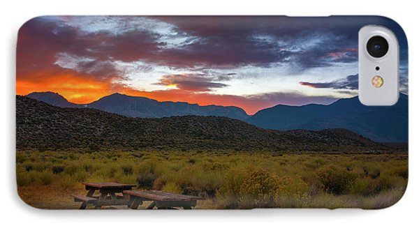 Picnic Tables At Sunset IPhone Case