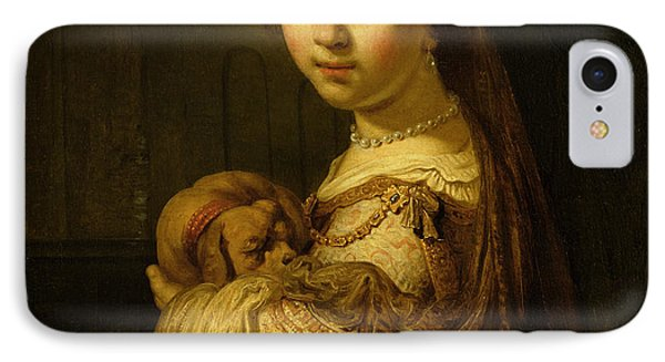 Picture Of A Young Girl Phone Case by Govaert Flinck