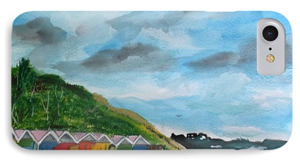 Picture Postcard View Of Scarborough IPhone Case by Carole Robins