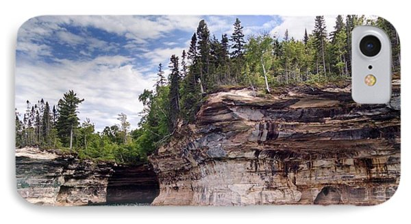 Pictured Rocks IPhone Case by Alan Casadei