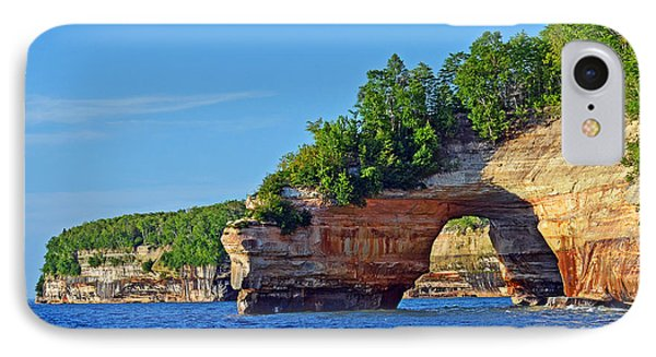 IPhone Case featuring the photograph Pictured Rocks by Rodney Campbell