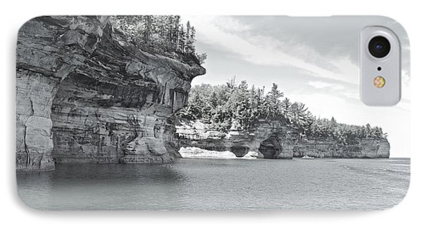 Pictured Rocks Shoreline National Park Phone Case by Michael Peychich