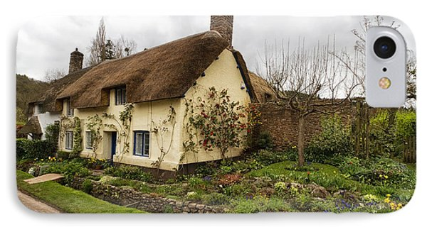 Picturesque Dunster Cottage IPhone Case by Shirley Mitchell