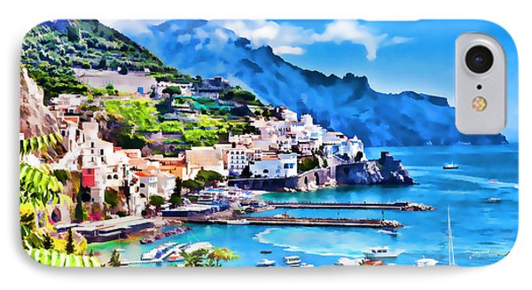 Picturesque Italy Series - Amalfi IPhone Case by Lanjee Chee