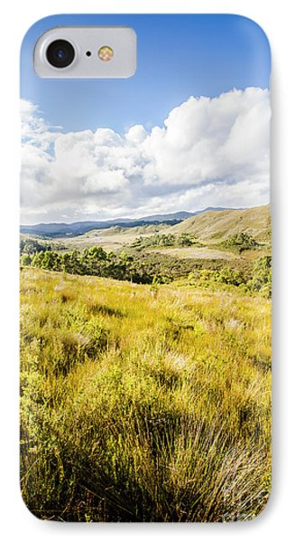 Picturesque Tasmanian Field Landscape IPhone Case by Jorgo Photography - Wall Art Gallery