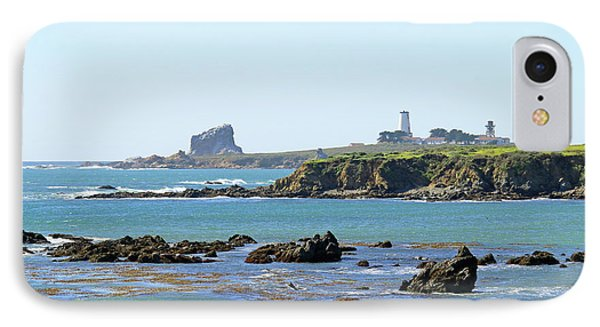 IPhone Case featuring the photograph Piedras Blancas Lighthouse by Art Block Collections