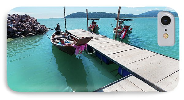 IPhone Case featuring the photograph Pier At Khanom by Atiketta Sangasaeng