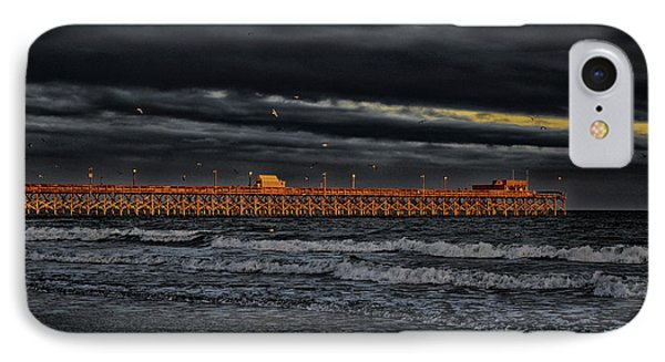 Pier Into Darkness IPhone Case by Kelly Reber