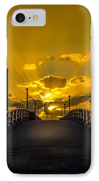 Pier Into The Rays IPhone Case by Marvin Spates