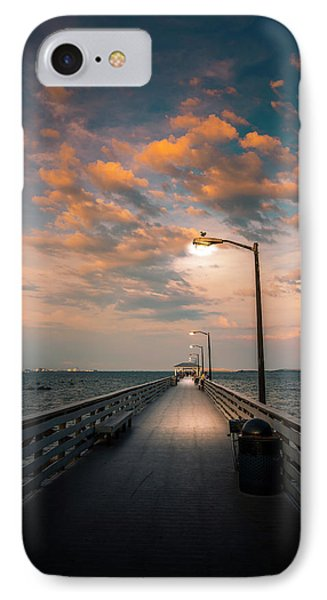 Pier Lights IPhone Case by Marvin Spates
