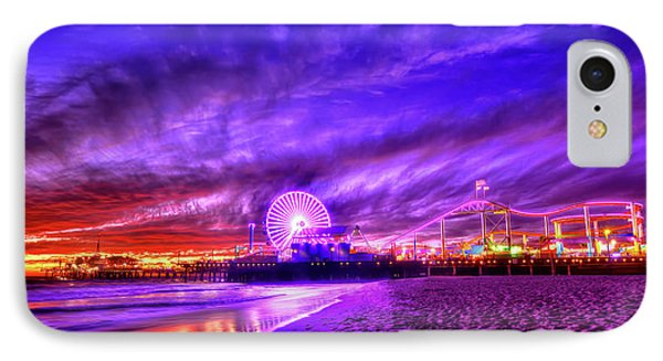 Pier Of Lights IPhone Case by Midori Chan