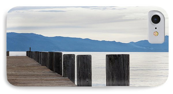 IPhone Case featuring the photograph Pier On The Lake by Ana V Ramirez