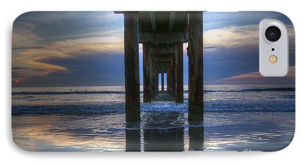 Pier View At Dawn IPhone Case by Myrna Bradshaw