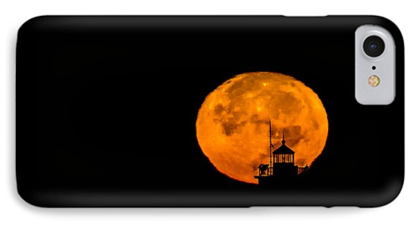 IPhone Case featuring the photograph Pierhead Supermoon Silhouette by Everet Regal
