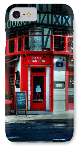 Pierre Champion Rouen France IPhone Case by Tom Prendergast