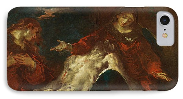 IPhone Case featuring the painting Pieta With Mary Magdalene by Giuseppe Bazzani