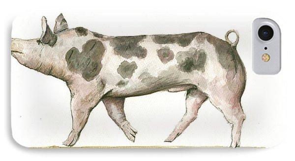 Pietrain Pig IPhone Case