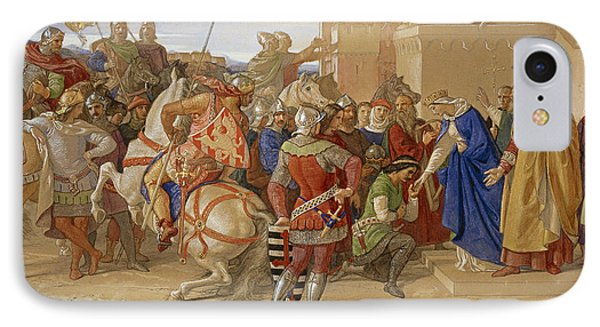 Piety - The Knights Of The Round Table IPhone Case by William Dyce