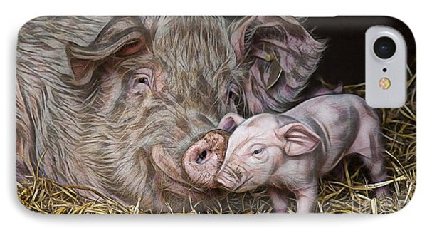 Pig Collection IPhone Case by Marvin Blaine
