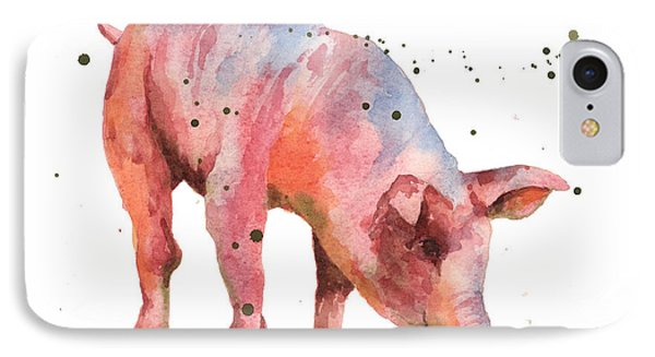 Pig Painting IPhone Case by Alison Fennell