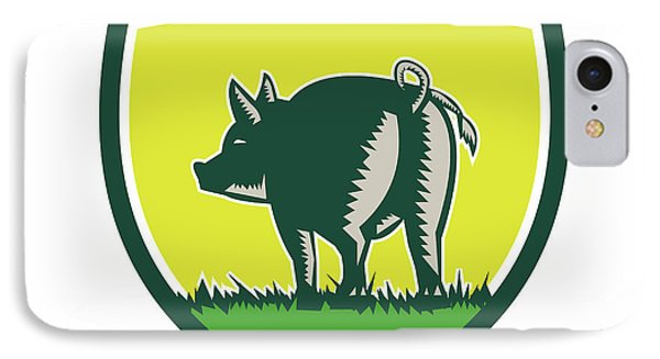 Pig Tail Rear Crest Woodcut IPhone Case