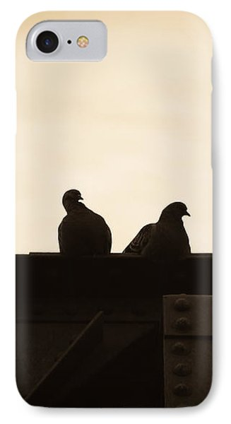 Dove iPhone 7 Case - Pigeon And Steel by Bob Orsillo