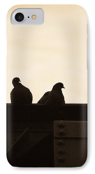 Pigeon And Steel IPhone Case by Bob Orsillo