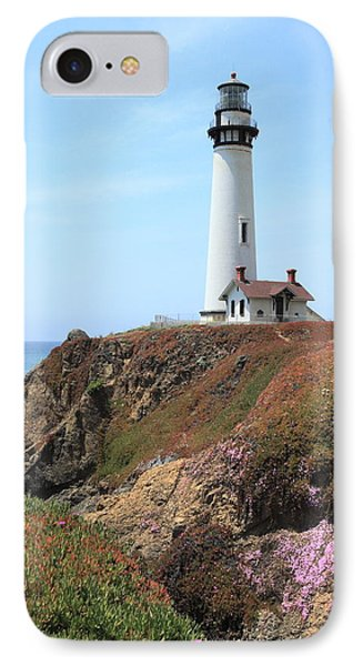 Pigeon Point Lighthouse 2 IPhone Case by Lou Ford