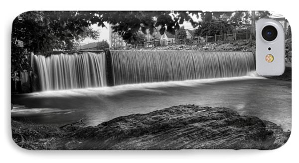 Pigeon River At Old Mill In Black And White IPhone Case by Greg Mimbs