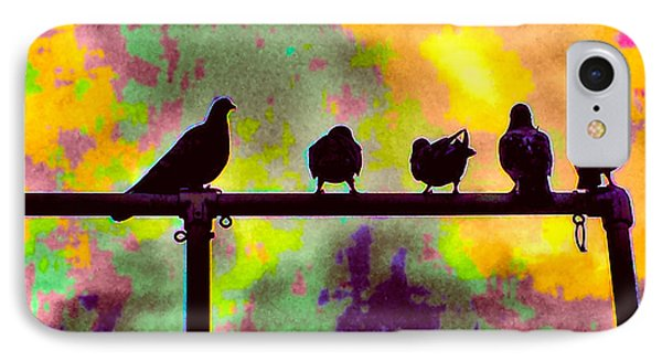 Pigeons In Abstract 2 IPhone Case