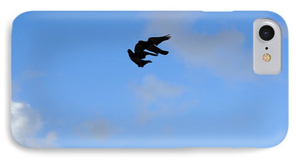 Pigeons Shadow IPhone Case by Isam Awad