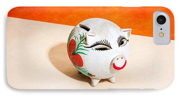 Piggy Bank Wink IPhone Case by Yo Pedro