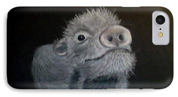 Piglet Curiousity  IPhone Case by Michelle Audas