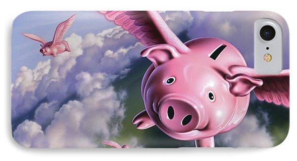 Pigs Away IPhone Case