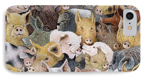 Pigs Galore IPhone 7 Case by Pat Scott