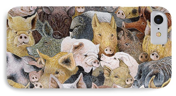 Pigs Galore IPhone Case by Pat Scott