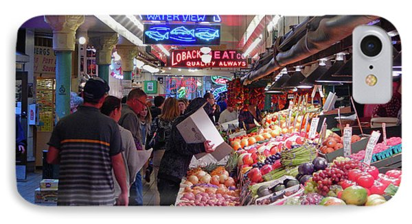 IPhone Case featuring the photograph Pike Market Fruit Stand by Walter Fahmy