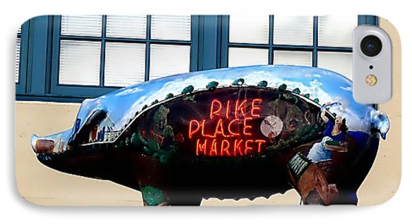 IPhone Case featuring the photograph Pike Place Market by Janice Spivey