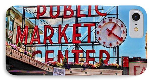 Pike Place Market IPhone Case by Joan  Minchak
