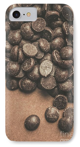 Pile Of Chocolate Chip Chunks IPhone Case by Jorgo Photography - Wall Art Gallery