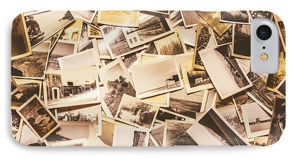 Pile Of Many Instant Photos  IPhone Case by Jorgo Photography - Wall Art Gallery