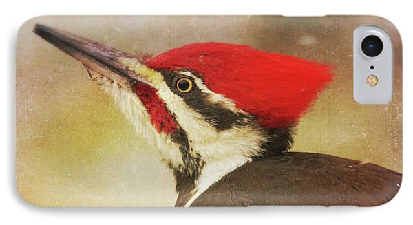 IPhone Case featuring the photograph Pileated Woodpecker With Snowfall by Heidi Hermes