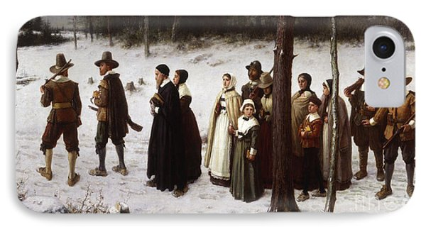 Pilgrims Going To Church, 1867 IPhone Case by George Henry Boughton