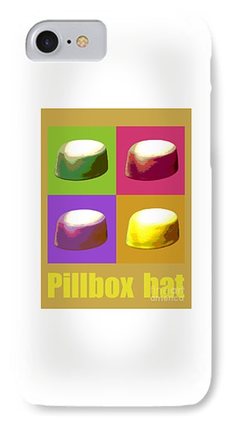 IPhone Case featuring the digital art Pillbox Hat by Jean luc Comperat