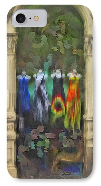 IPhone Case featuring the digital art Piller Dresses by Dale Stillman